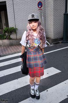 Plaid Retro Skirts in Shibuya