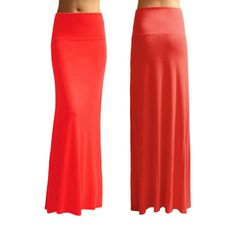 3-Pack: High-Waisted Fold-Over Maxi-Skirts at 68% Savings off Retail ($32.00 Our Price)!