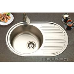 Delightful Prep Sink | Kitchen Sinks   Round Bar/Prep Sink With Drainboard   Stainless