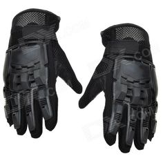 SW3080 Outdoor Sports Full Fingers Tactical Gloves - Black (Pair / Size M) Price: $11.70