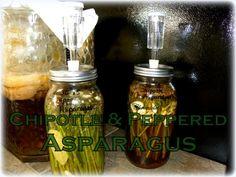 Chipotle and Peppered Fermented Asparagus #Asparagus, #Chipotle, #Fermentation #FoodStorageandPreservation