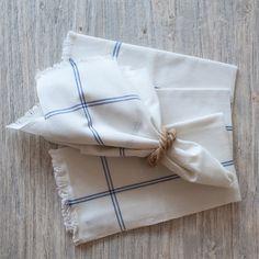 Blue Stripe Casual Cotton Napkin