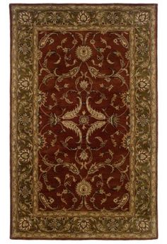 """LR Resources Heritage Collection LR10104 Rust/Medium Green - on Area Rugs.com   (9' X 12' 9"""" = $1,539.00)"""
