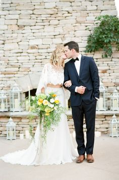 Romantic outdoor wedding: http://www.stylemepretty.com/little-black-book-blog/2016/11/10/yellow-fall-wedding-inspiration-shoot/ Photography: Tamara Gruner - http://tamaragruner.com/