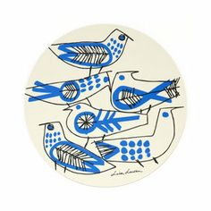 Retro Bird pot coaster by Lisa Larson