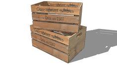 Large preview of 3D Model of ENS. 2 CAISSES CHATEAUBRIANT, Maisons du monde. Réf: 138291 Prix:69,90 €