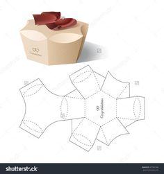 Retail Box With Blueprint Template Illustration vectorielle libre de droits 407581996 : Shutterstock