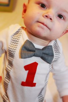 Jackson's first birthday, onsie purchased from etsy