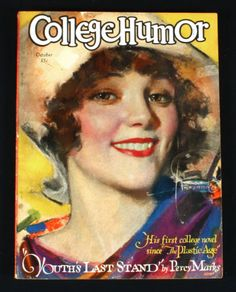 October 1928 College Humor Magazine Rolf Armstrong Flapper Cover Jazz Age Deco   eBay