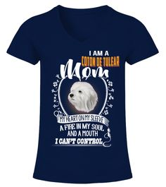 "# I Can't Control Coton De Tulear Mom .  HOW TO ORDER:1. Select the style and color you want2. Click ""Buy it now""3. Select size and quantity4. Enter shipping and billing information5. Done! Simple as that!TIPS: Buy 2 or more to save shipping cost!This is printable if you purchase only one piece. so don't worry, you will get yours.Guaranteed safe and secure checkout via: Paypal 