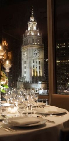 Elegant dining with a gorgeous view!