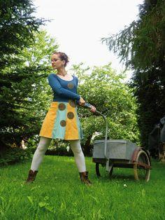 Das T-Shirt-Kleid Heiderose - Handmade Kultur