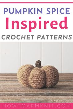 Get these free crochet pumpkin spice inspired patterns that are perfect for Fall and Thanksgiving season! These pumpkin spice inspired crochet patterns are great for those who want to make pumpkin spice type items. If you're looking for pumpkin spice inspired crochet patterns, check out these free crochet patterns. #pumpkinspice #crochet #crochetpattern #freepatterns Holiday Crafts For Kids, Crafts For Kids To Make, Thanksgiving Crafts, Easter Crafts, Crochet Geek, Learn To Crochet, Crochet Crafts, Free Crochet, Crochet For Beginners