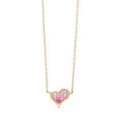 【第1弾:Heart】ペタルオブラブ(ピンクサファイア)ネックレス | アーカー公式通販サイト「AHKAH Online Boutique」