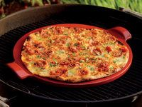Emile Henry Flame Pizza Stone - use it in the oven or on the grill