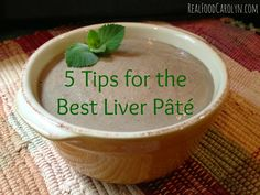 5 Tips for the Best Liver Pâté via Food Carolyn Pate Recipe Easy, Liver Pate Recipe Beef, Pate Recipes, Chicken Liver Pate, Chicken Livers, Food Network Recipes, Real Food Recipes, Chicken Recipes, Yummy Food
