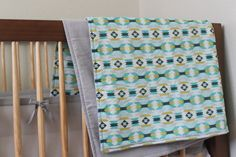 Baby Blanket Aztec Print by TheWakingHours on Etsy