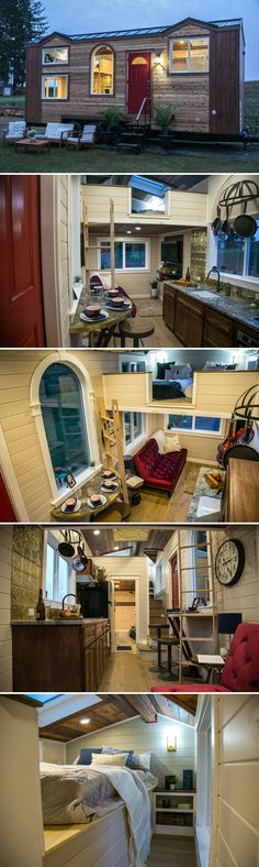 A San Diego family of four contacted Tiny Heirloom, the builders behind the TV show Tiny Luxury, to build this 200-square-foot theater-inspired tiny home.