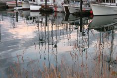 Boats and Their Reflections by brydges_s, via Flickr