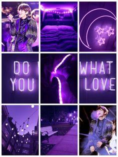Taehyung Aesthetic ungu neon bts |  Kpop |  Lua