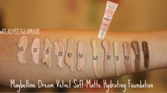 MAYBELLINE Dream Velvet Soft-Matte Hydrating Foundation - Google Search