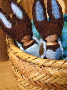 Waldorf Bunny Peg Doll, Easter