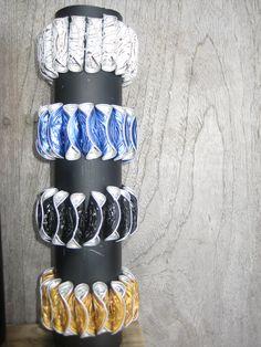 bracelet from old nespresso coffee cups made by loesje