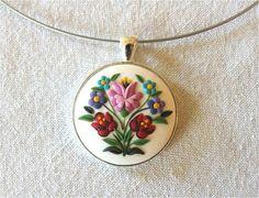 Fashion Necklace Floral Pendant Fashion Pendant por Floraljewel