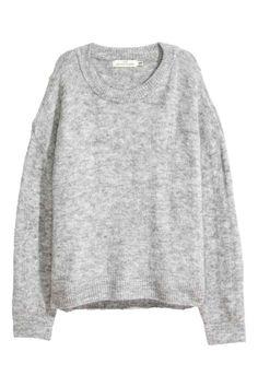 Вязаный джемпер - Светло-серый меланж - Женщины | H&M RU