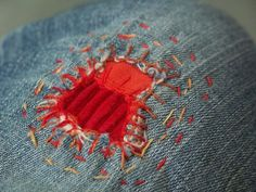 Cute little spider & other great mending ideas