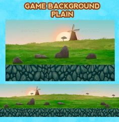 Game Background Plain — Photoshop PSD #mobile #game • Available here → https://graphicriver.net/item/game-background-plain/9244011?ref=pxcr