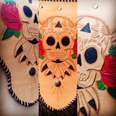 #leatherwork #leathercraft #skullandroses #irisrules #irisvanderjagt #leatherbag #leatherart