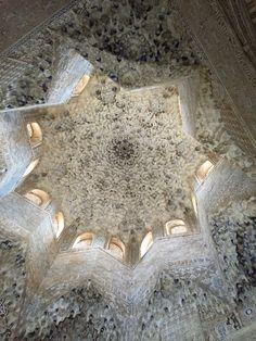 Beautiful architecture in Alhambra Granada Spain