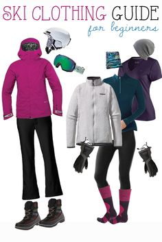 Wear Skiing: The Ultimate Skiing Apparel Guide What to wear skiing - a winter newbie's guide to staying warm, dry, and comfortable on the slopes.What to wear skiing - a winter newbie's guide to staying warm, dry, and comfortable on the slopes. Ski Tips For Beginners, Ski Trip Packing List, Packing Lists, Ski Trips, Ourfit, Ski Et Snowboard, Snowboard Goggles, Ski Weekends, Ski Bunnies