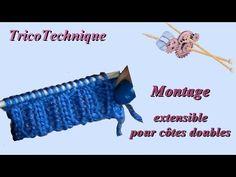 Montage extensible ou tubulaire pour côtes doubles - YouTube