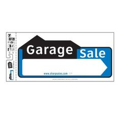 Sell It Yourself Garage Sale Sign, Multicolor