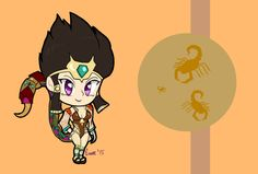 Chibi Serqet - Smite by Eroxan on DeviantArt