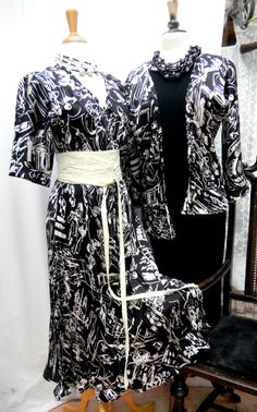 Italian silk dress , cut on the bias for comfort and style with Kimono jacket...at Ms. Emma's /Toronto