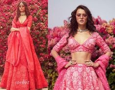 It is time to Wave bye to Winter Weddings and say hello to summer weddings with all new Sabyasachi Fiza Spring Summer Collection Eventila Sabyasachi Lehenga Bridal, Indian Bridal Lehenga, Anarkali, Pink Lehenga, Dress Indian Style, Indian Dresses, Indian Wear, Pakistani Dresses, Fashion Models