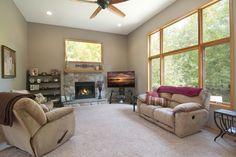 Great room with Soaring Ceilings & Wonderful Wooded Views