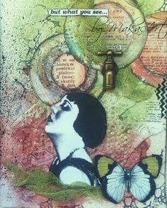 My art journal - Lace...  My journey through the Scrapbookworld...: *Art Journal - Lace*