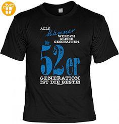 T-Shirt Geburtstag 1952 - Alle Männer gleich geschaffen - 52er Generation ist die Beste - die Geschenk-Idee - Schwarz, Größe:3XL - Shirts zum geburtstag (*Partner-Link)