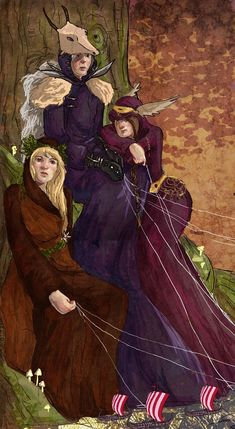 The Norns, Goddess's of Fate, they who cursed Sigyn for trying to change her brothers fate