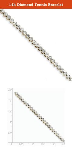 14k Diamond Tennis Bracelet. Attributes Polished 14k Yellow gold Diamond Box catch A quality Product Description Material: Primary - Purity:14K Stone Type 1:Diamond Stone Quantity 1:49 Stone Weight 1:0.0408 ct Stone Clarity 1:I2 (A) Chain Length:7 in Chain Width:4 mm Clasp /Connector:Box Catch Material: Primary:Gold Stone Shape 1:Round Product Type:Jewelry Jewelry Type:Bracelets Bracelet Type:Tennis Material: Primary - Color:Yellow Stone Creation Method 1:Natural.