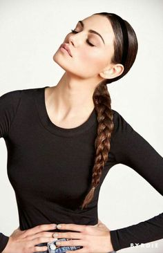 @auroragreen11 slick back braid + midi lips