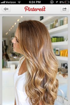 Caramel / blonde hair color for fall