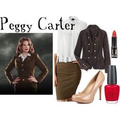 """Peggy Carter"" by companionclothes on Polyvore....love love loves!!!"