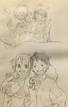 Manga Anime One Piece, One Piece Fanart, Luffy X Nami, Nami One Piece, 0ne Piece, Samurai Jack, One Piece Images, Nalu, Straw Hats
