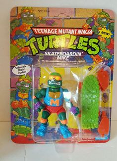 TMNT Skate Boardin' Mike Sealed MOC #PlaymatesToys