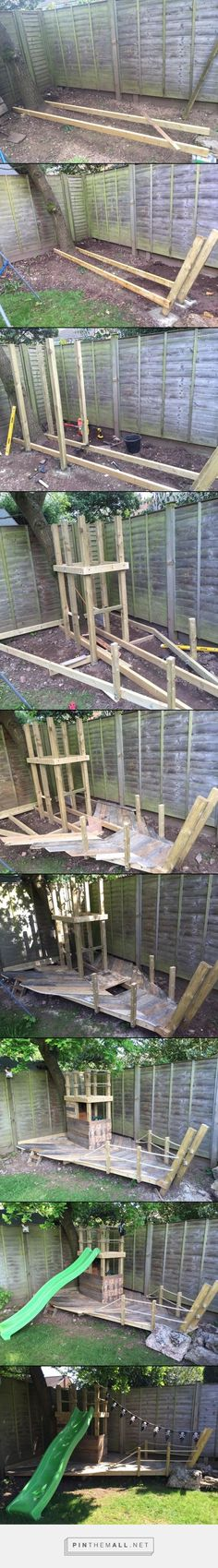 DIY Pirate Ship Treehouse / Playhouse. Made from Recycled Pallets - created via https://pinthemall.net